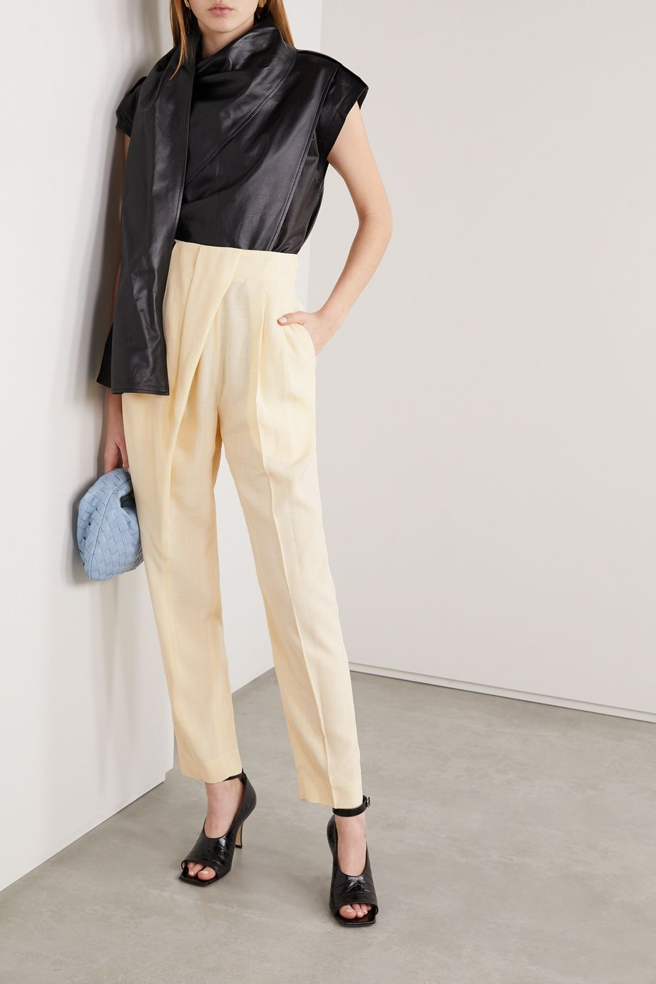 Proenza Schouler Draped woven tapered pants