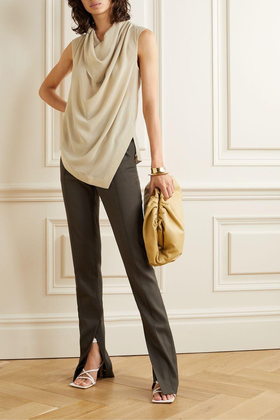 Proenza Schouler Draped silk-georgette top