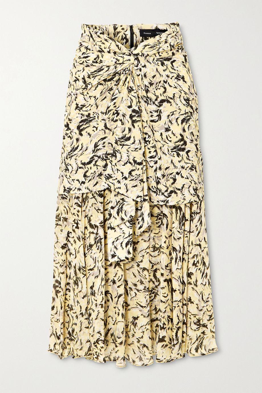 Proenza Schouler Layered printed chiffon midi skirt