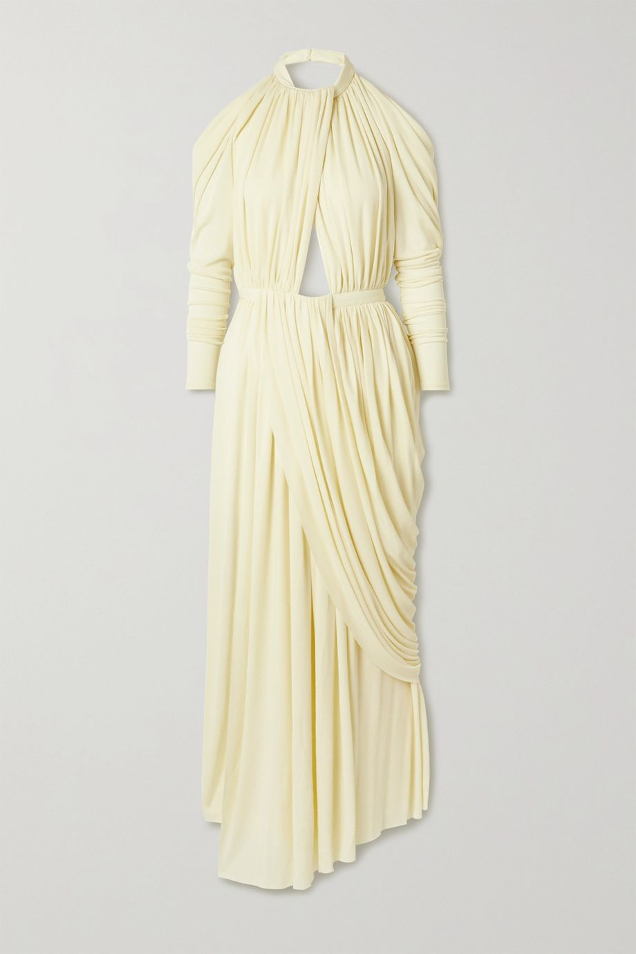 Proenza Schouler Open-back cutout draped jersey maxi dress