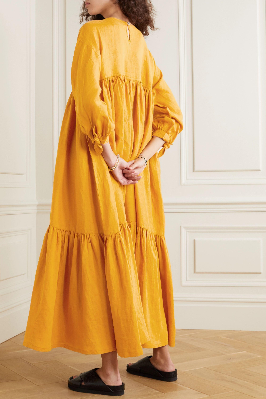 L.F.Markey Kendrick tiered linen midi dress