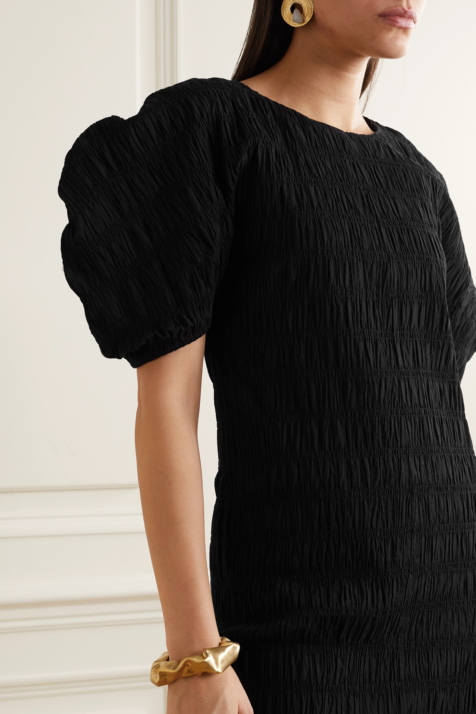 Mara Hoffman + NET SUSTAIN Aranza shirred stretch-organic cotton midi dress