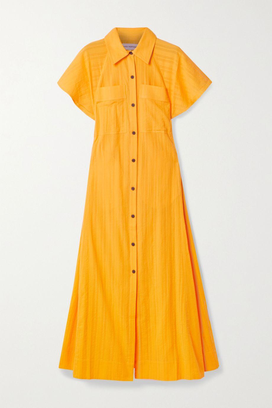 Mara Hoffman + NET SUSTAIN Aimilios organic cotton-jacquard maxi shirt dress