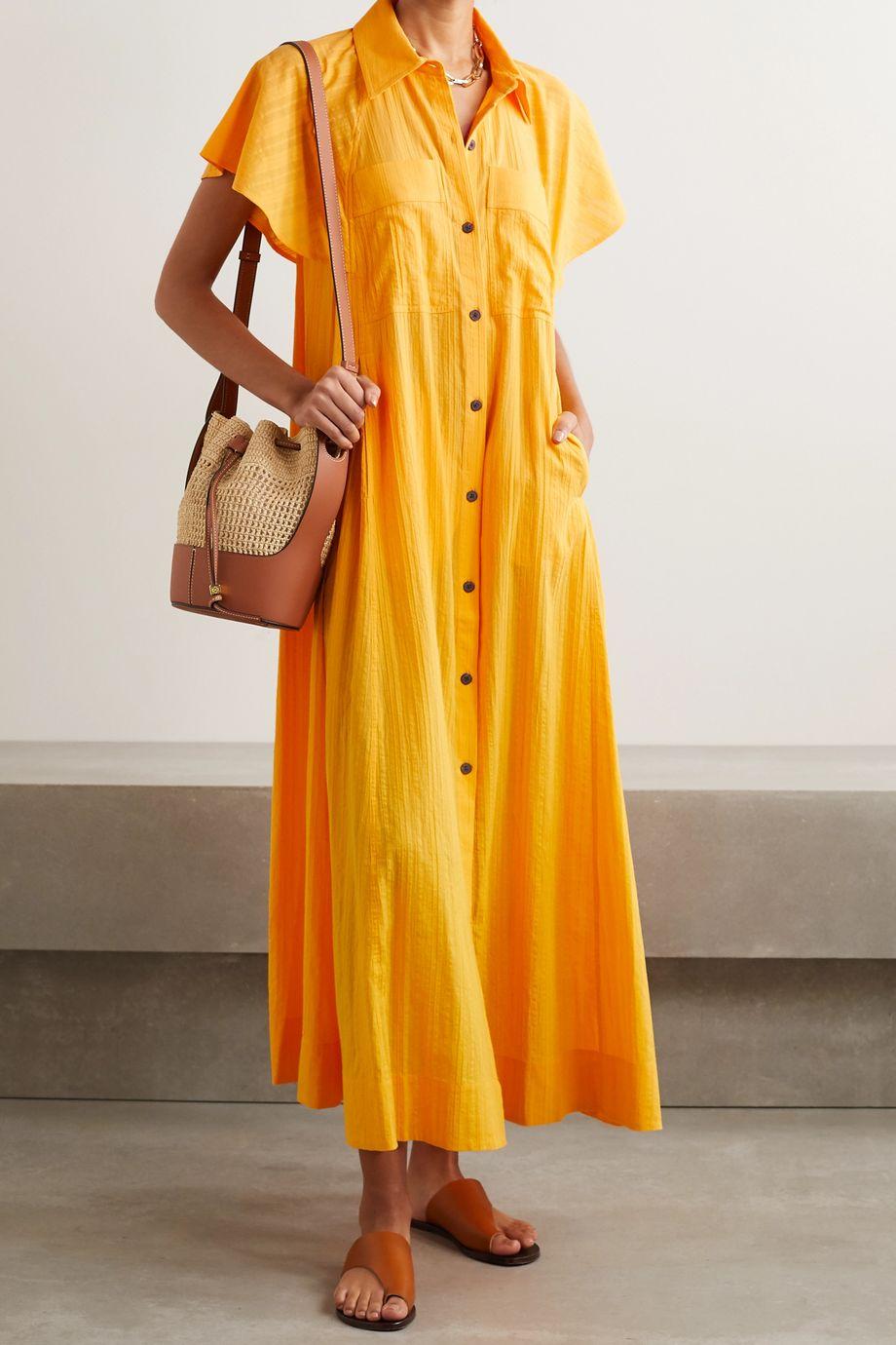 Mara Hoffman Robe-chemise longue en jacquard de coton biologique Aimilios - NET SUSTAIN