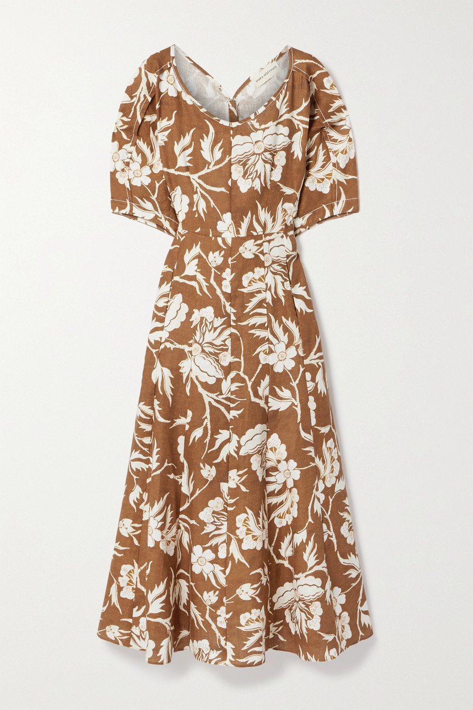 Mara Hoffman + NET SUSTAIN Sicily floral-print hemp midi dress