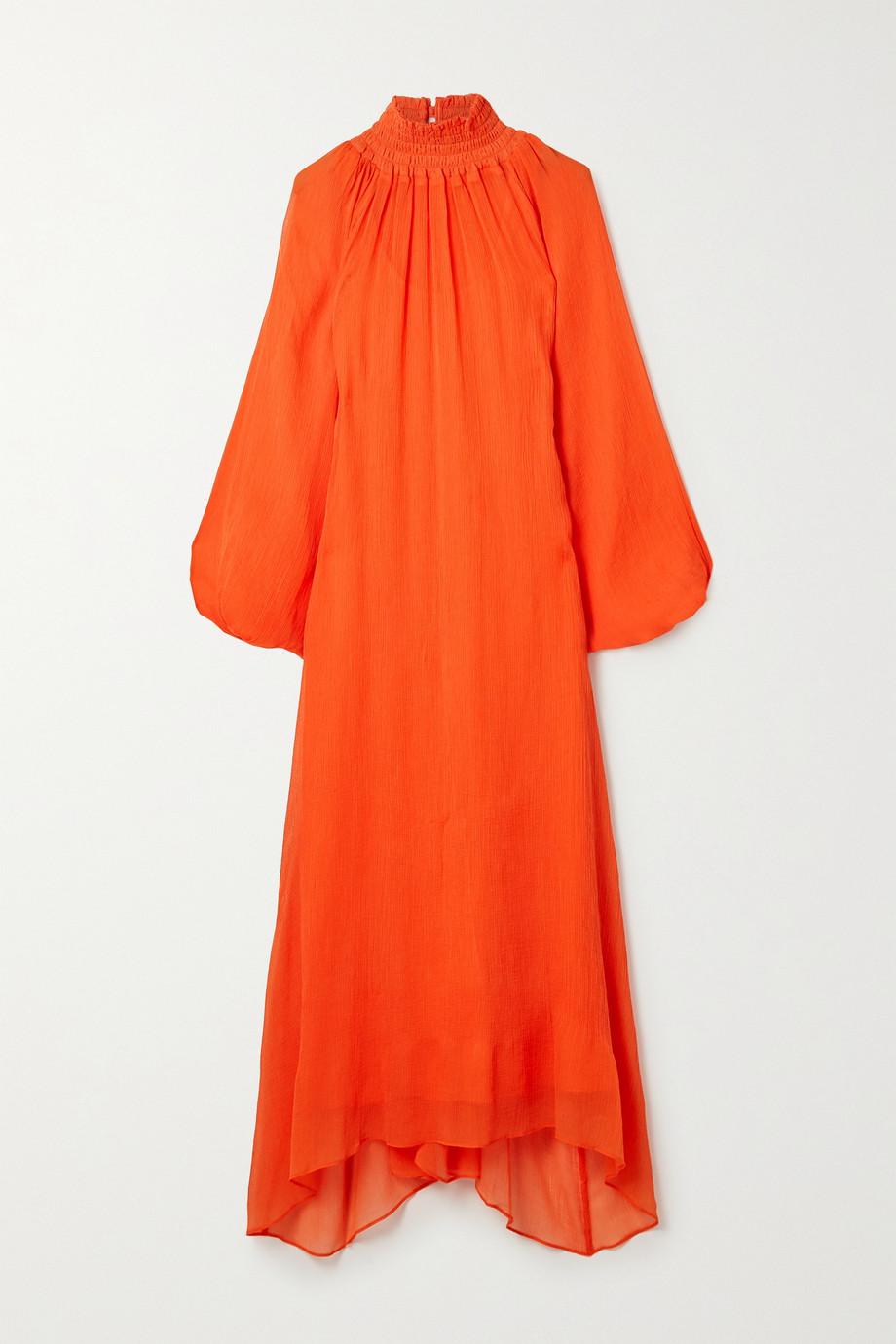 Mara Hoffman + NET SUSTAIN Edmonia asymmetric cotton-blend crepon dress