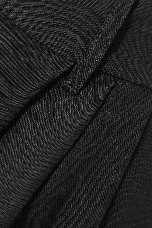 Mara Hoffman + NET SUSTAIN Tulay pleated Lyocell and organic linen-blend midi skirt