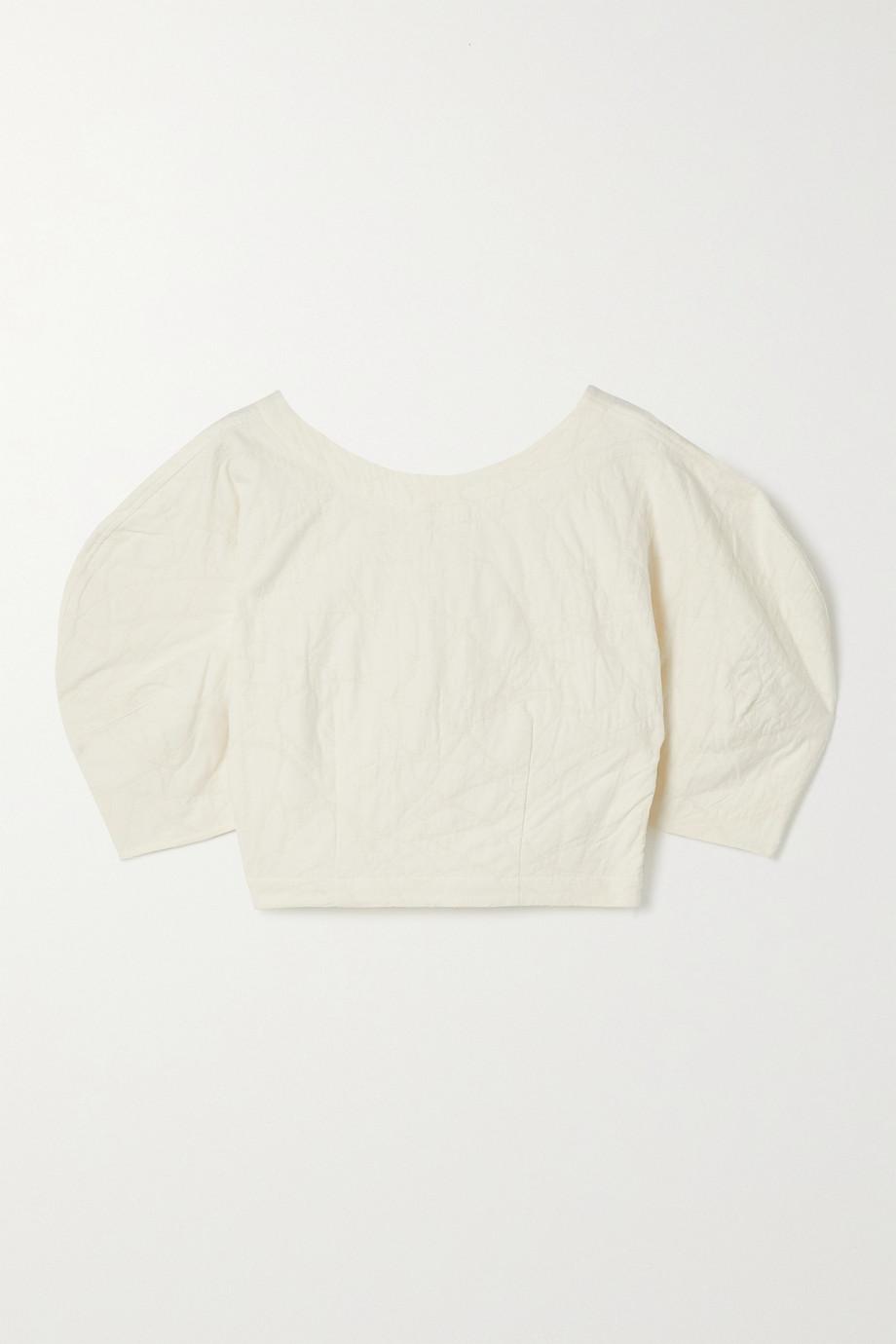Mara Hoffman + NET SUSTAIN Peni organic cotton and linen-blend jacquard top