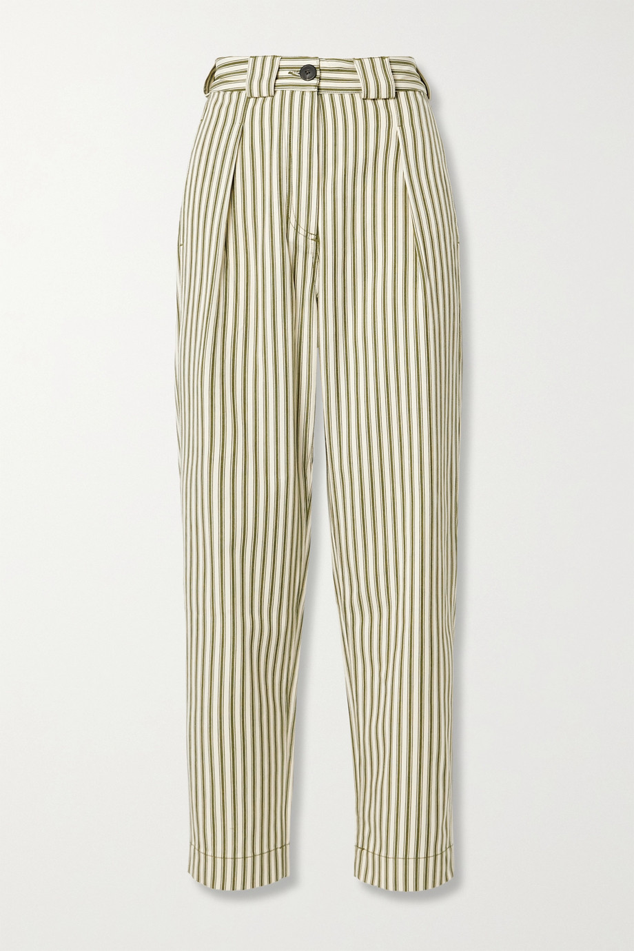 Mara Hoffman + NET SUSTAIN Jade striped Tencel and organic cotton-blend twill tapered pants