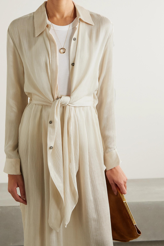 Mara Hoffman Agata plissé-TENCEL Luxe crepon shirt and skirt set