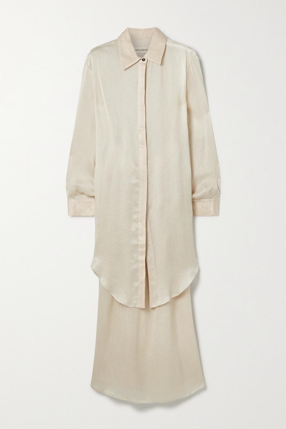 Mara Hoffman Agata 细褶天丝长丝顺纡绉衬衫半身裙套装