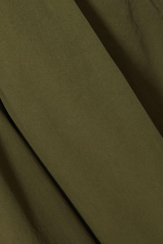 Dries Van Noten 褶裥纯棉斜纹布阔腿裤