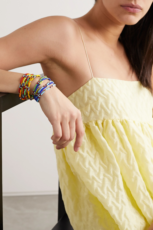 Roxanne Assoulin New Patchwork set of 12 beaded bracelets