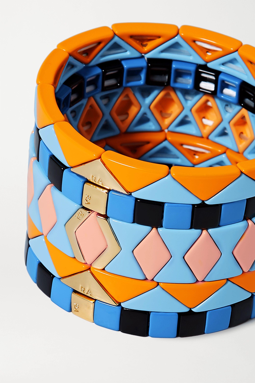 Roxanne Assoulin Set de cinq bracelets en émail et en métal doré Nemo