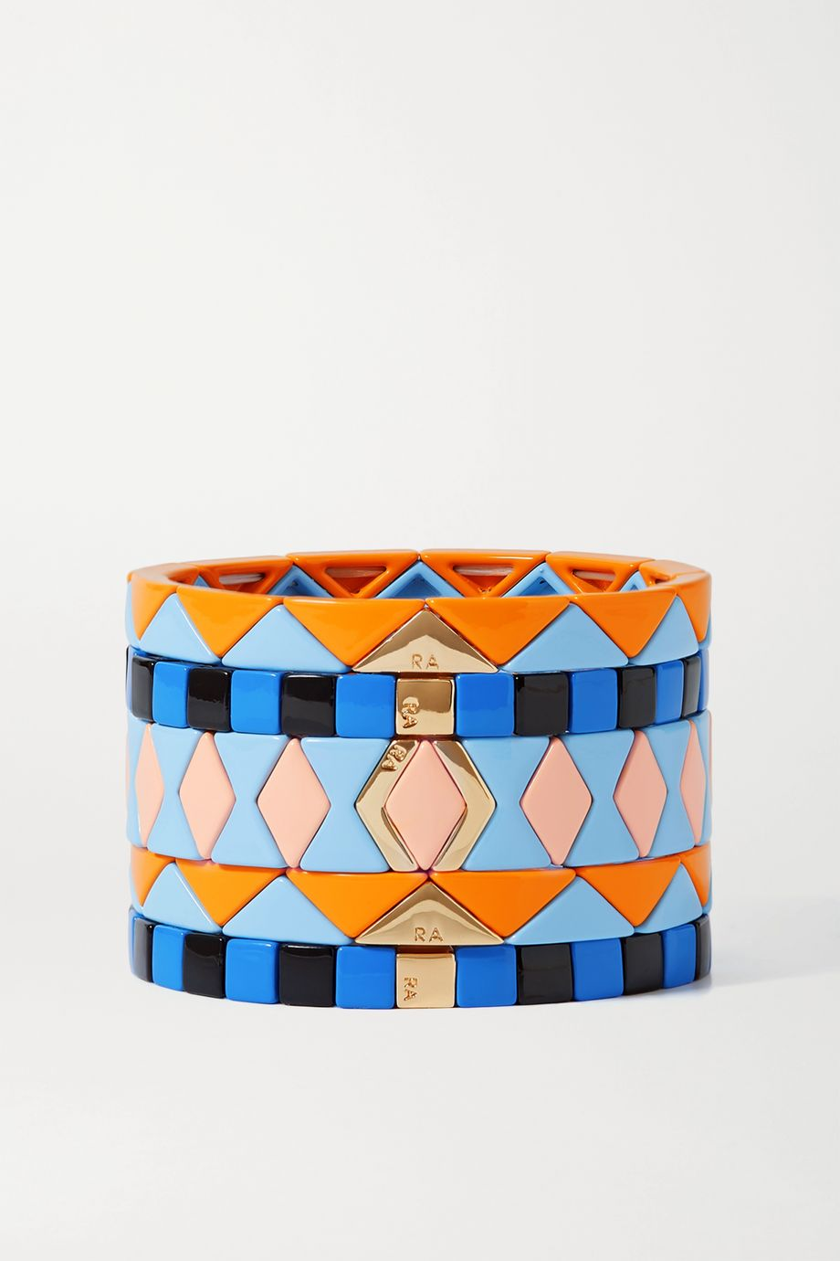Roxanne Assoulin Nemo set of five enamel and gold-tone bracelets