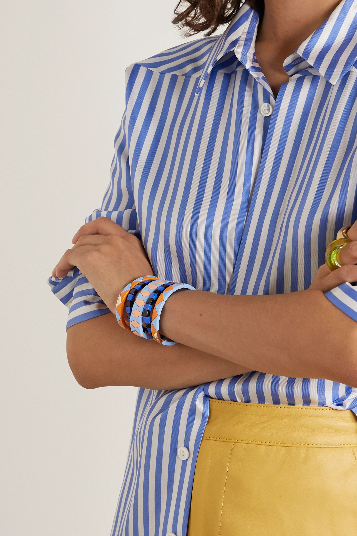 Roxanne Assoulin Nemo set of five enamel and gold-tone bracelets