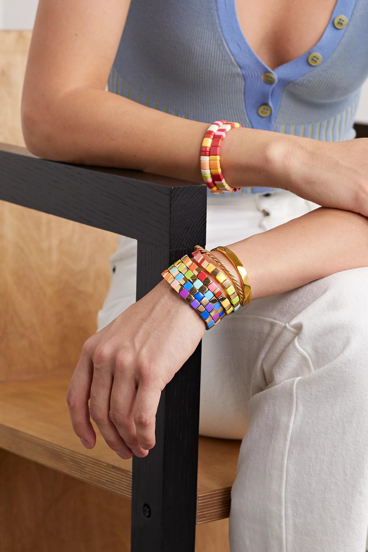 Roxanne Assoulin Golden Rainbow set of five enamel and gold-tone bracelets
