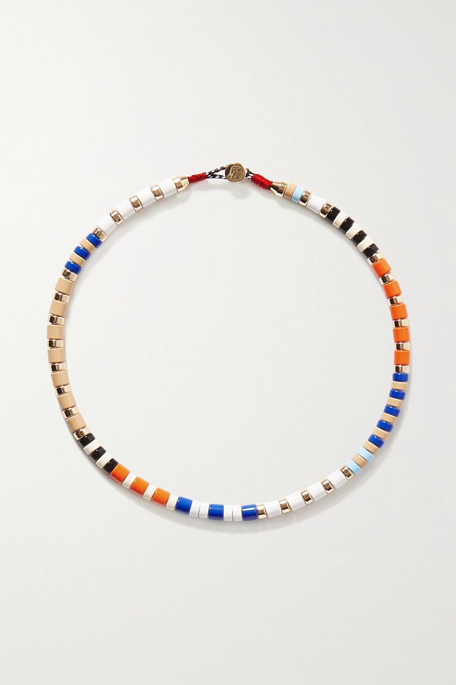 Roxanne Assoulin Classic Sport enamel and gold-tone necklace