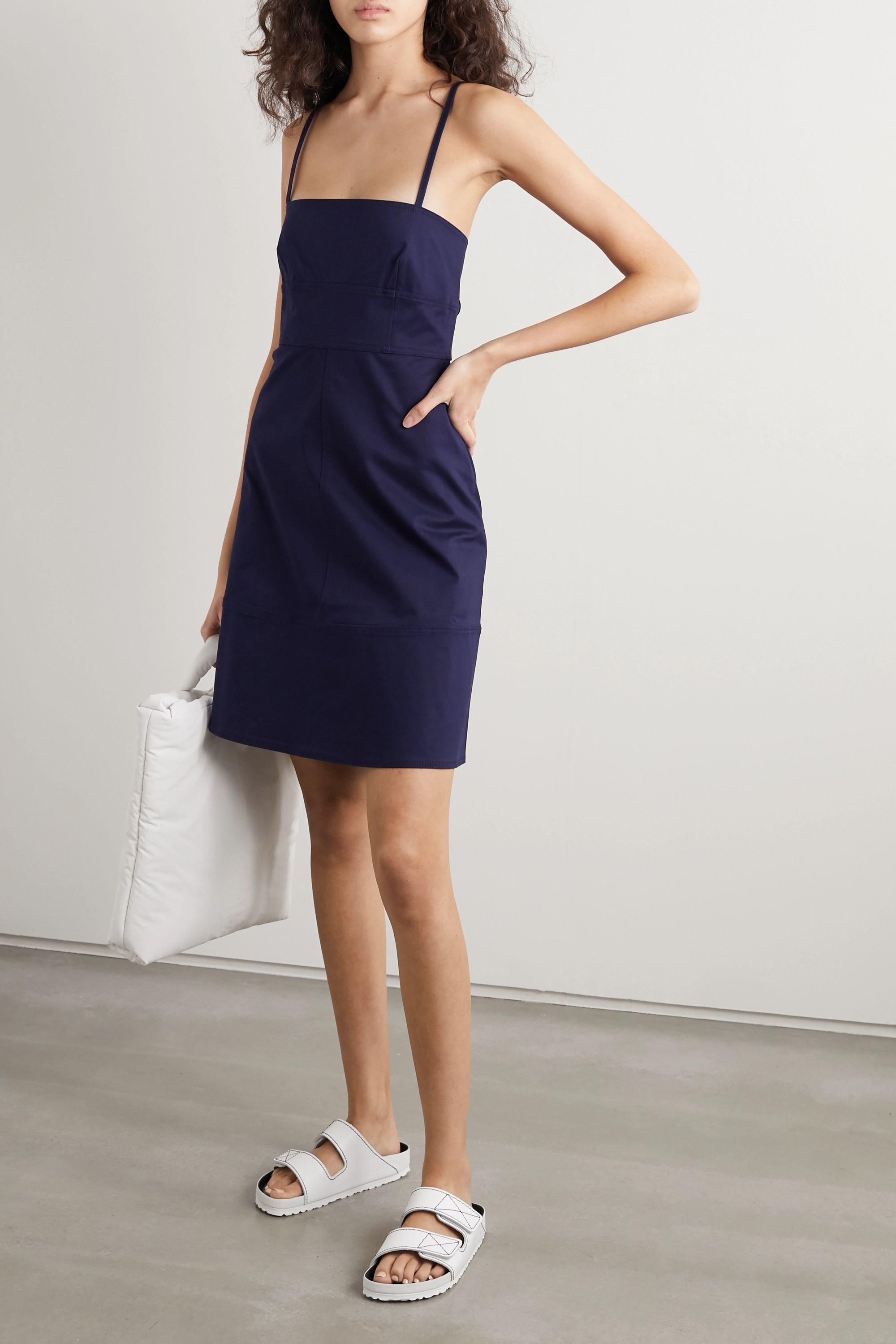 Proenza Schouler White Label Cutout cotton-blend mini dress