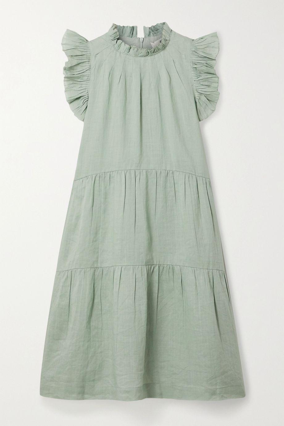 Sea Lucy tiered ruffled ramie dress