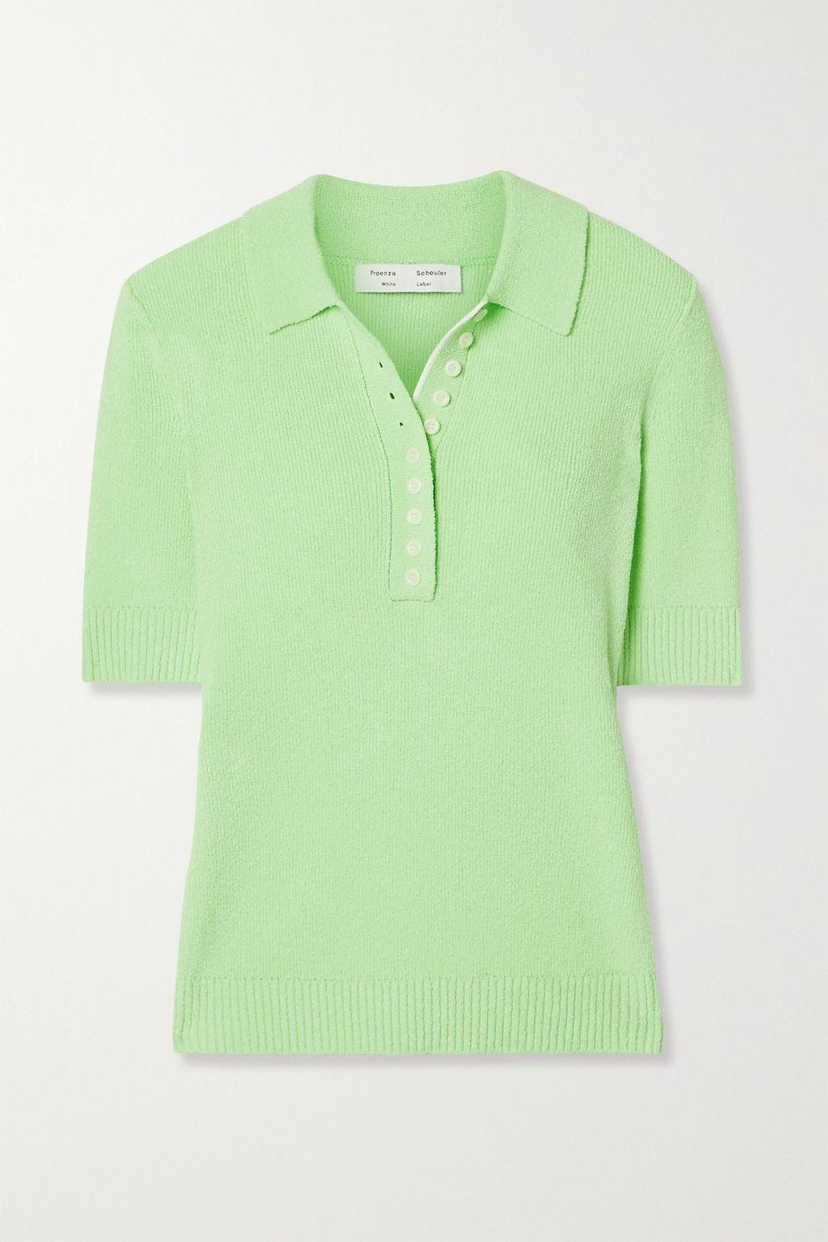 Proenza Schouler White Label Ribbed-knit polo shirt