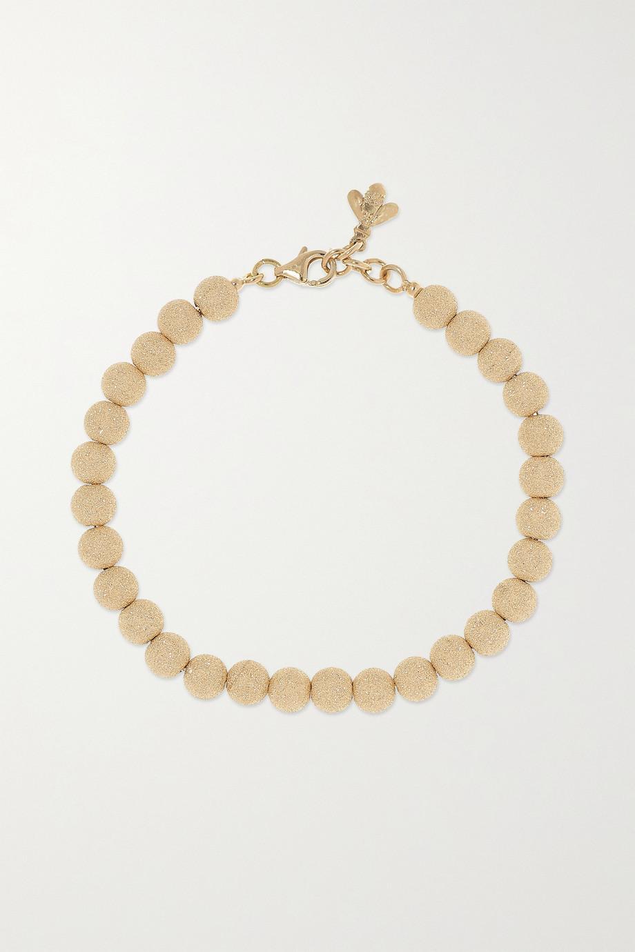 Carolina Bucci Florentine 18-karat gold beaded bracelet