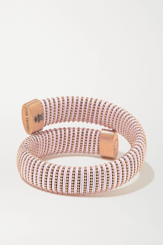 Carolina Bucci Caro rose gold-plated and cotton bracelet