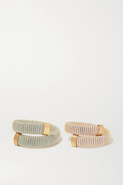 Carolina Bucci Caro set of two gold-plated and cotton bracelets