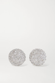 Carolina Bucci 18-karat white gold diamond earrings
