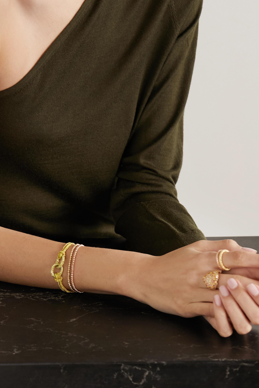 Carolina Bucci Travel Lucky 18-karat gold, silk and sapphire bracelet