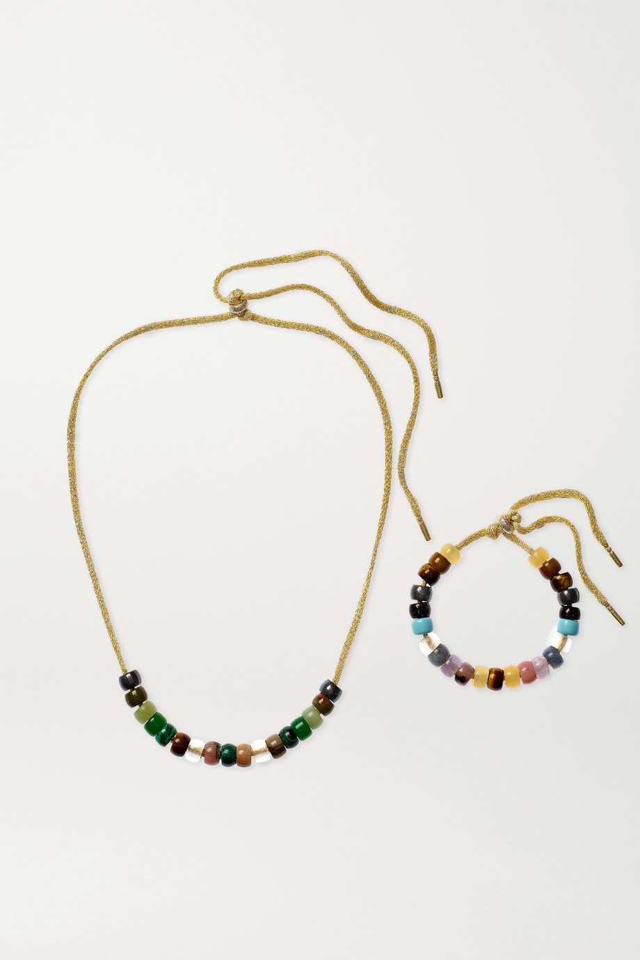 Carolina Bucci FORTE Beads 18-karat gold and multi-stone gift set