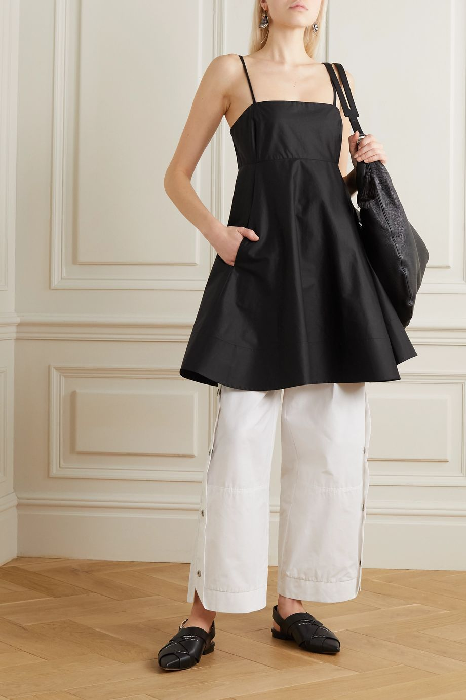 3.1 Phillip Lim Cotton-blend taffeta top