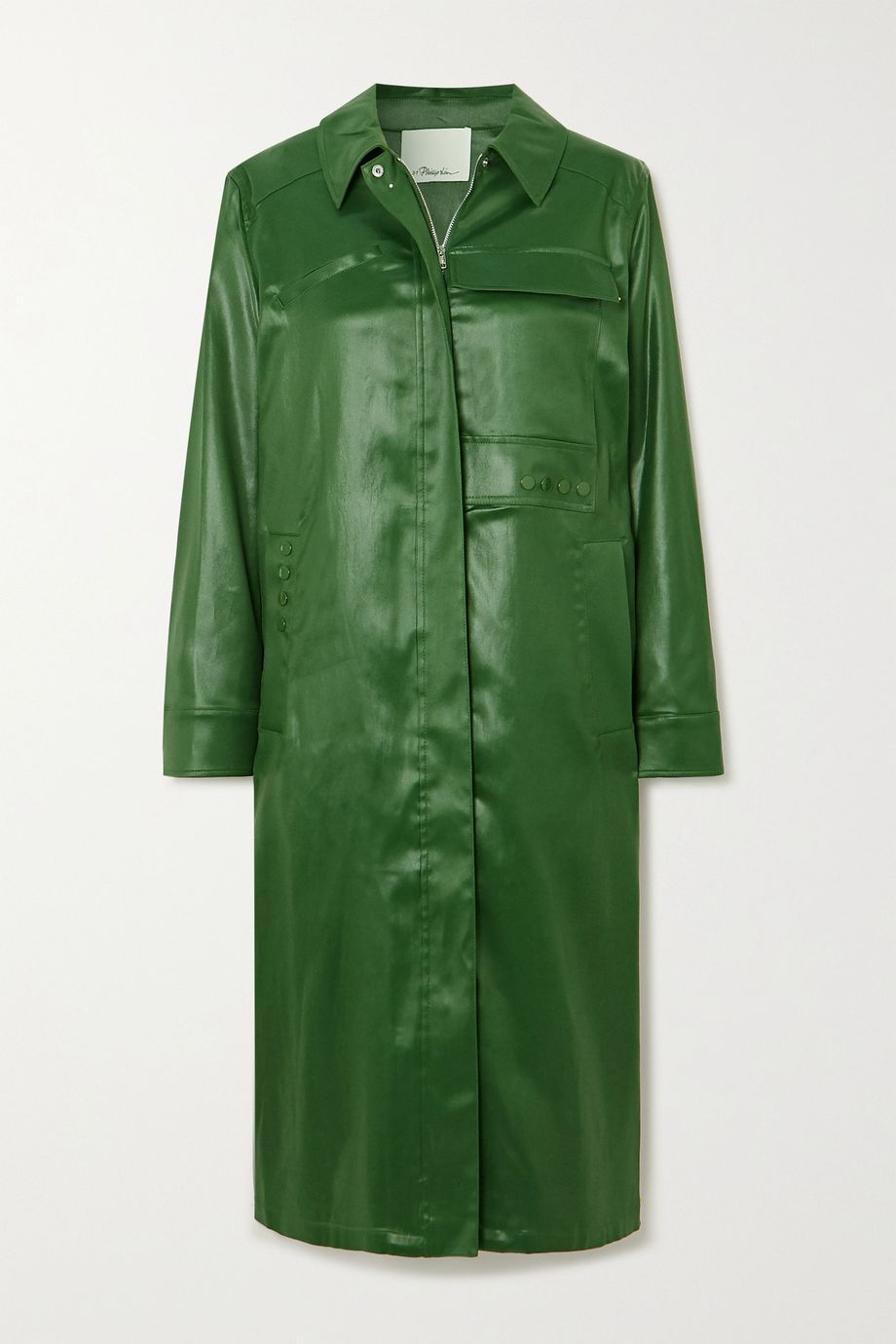 3.1 Phillip Lim Coated-shell coat