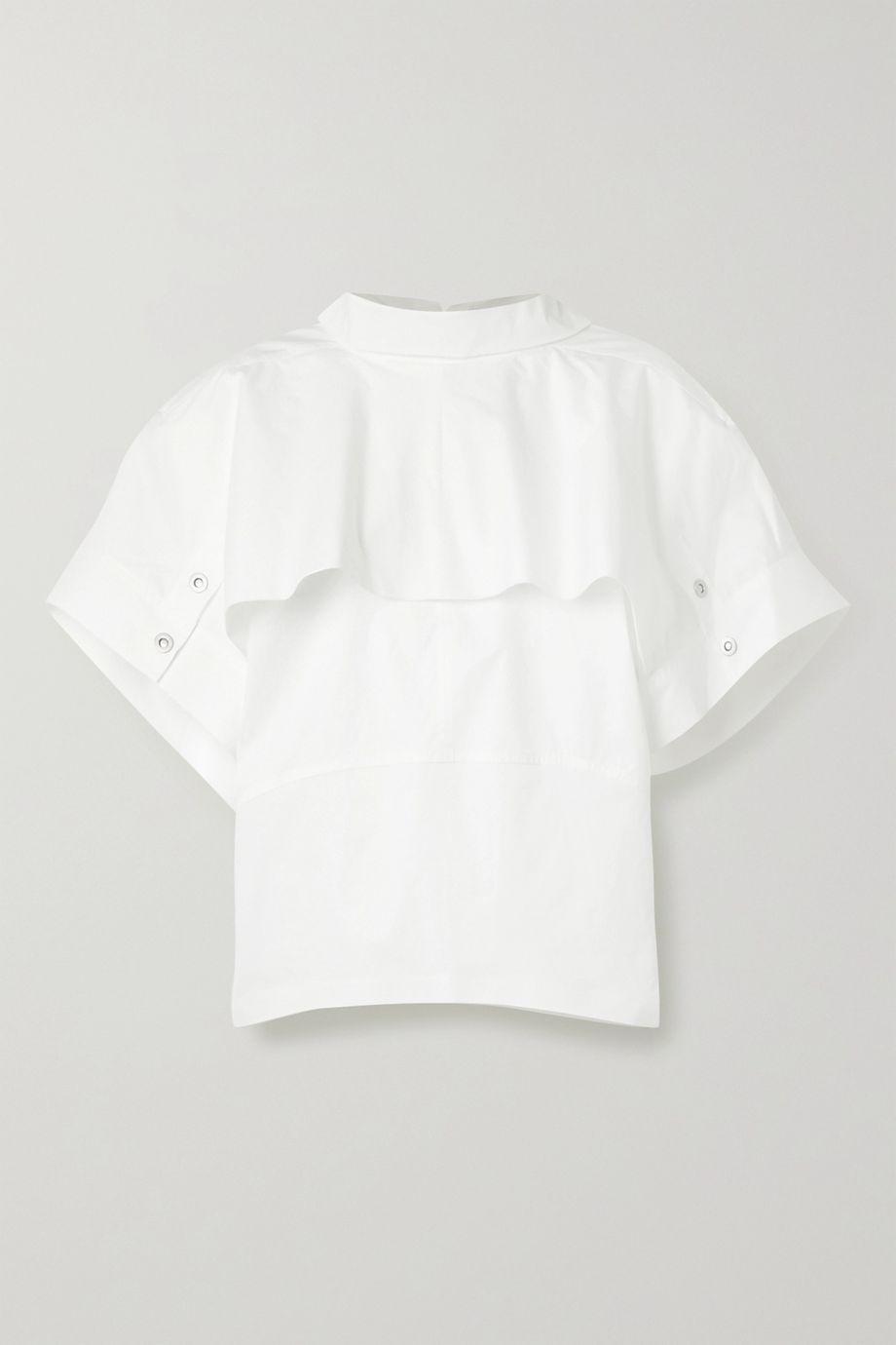 3.1 Phillip Lim Oversized layered cotton-blend poplin top