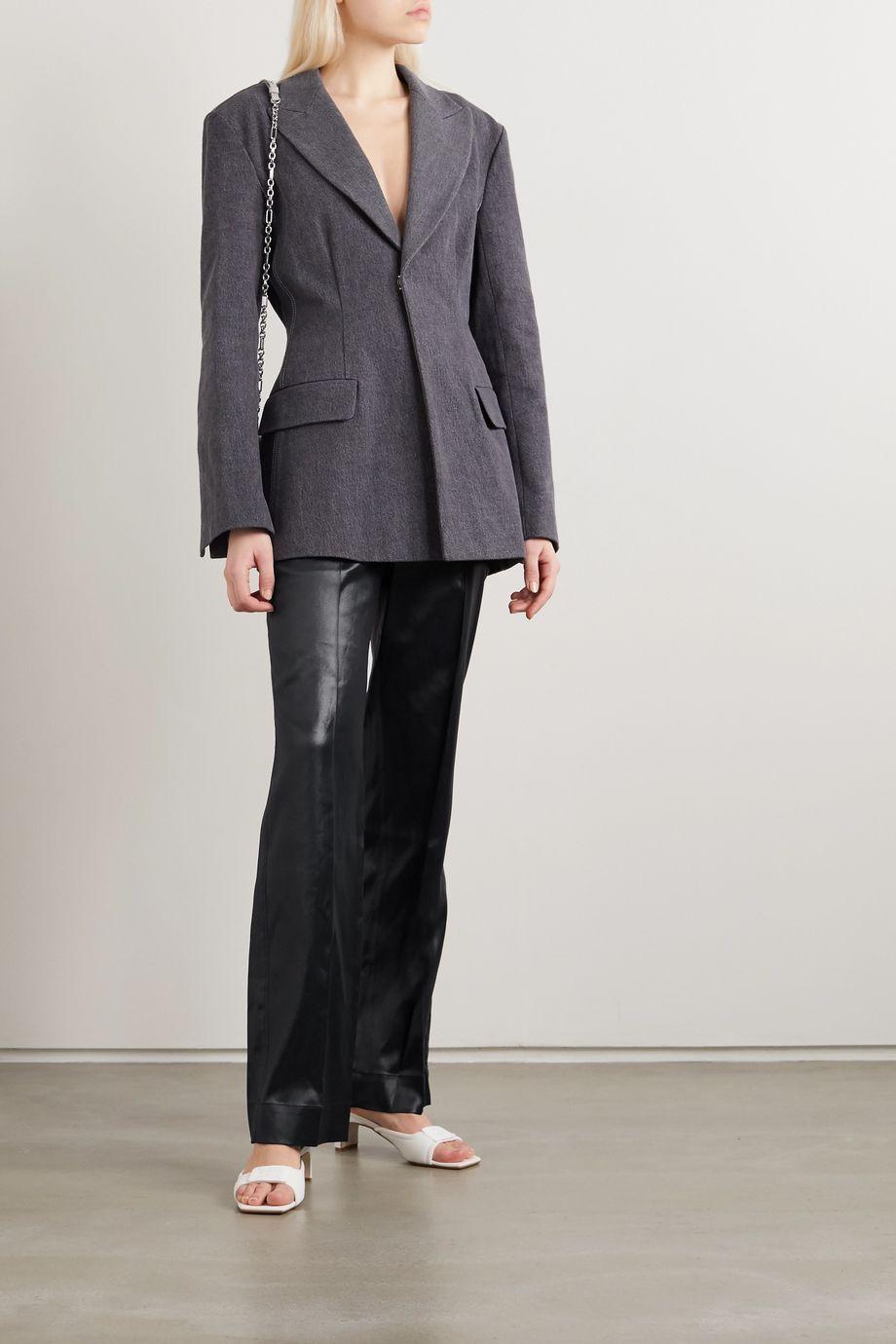 3.1 Phillip Lim Hammered-satin straight-leg pants