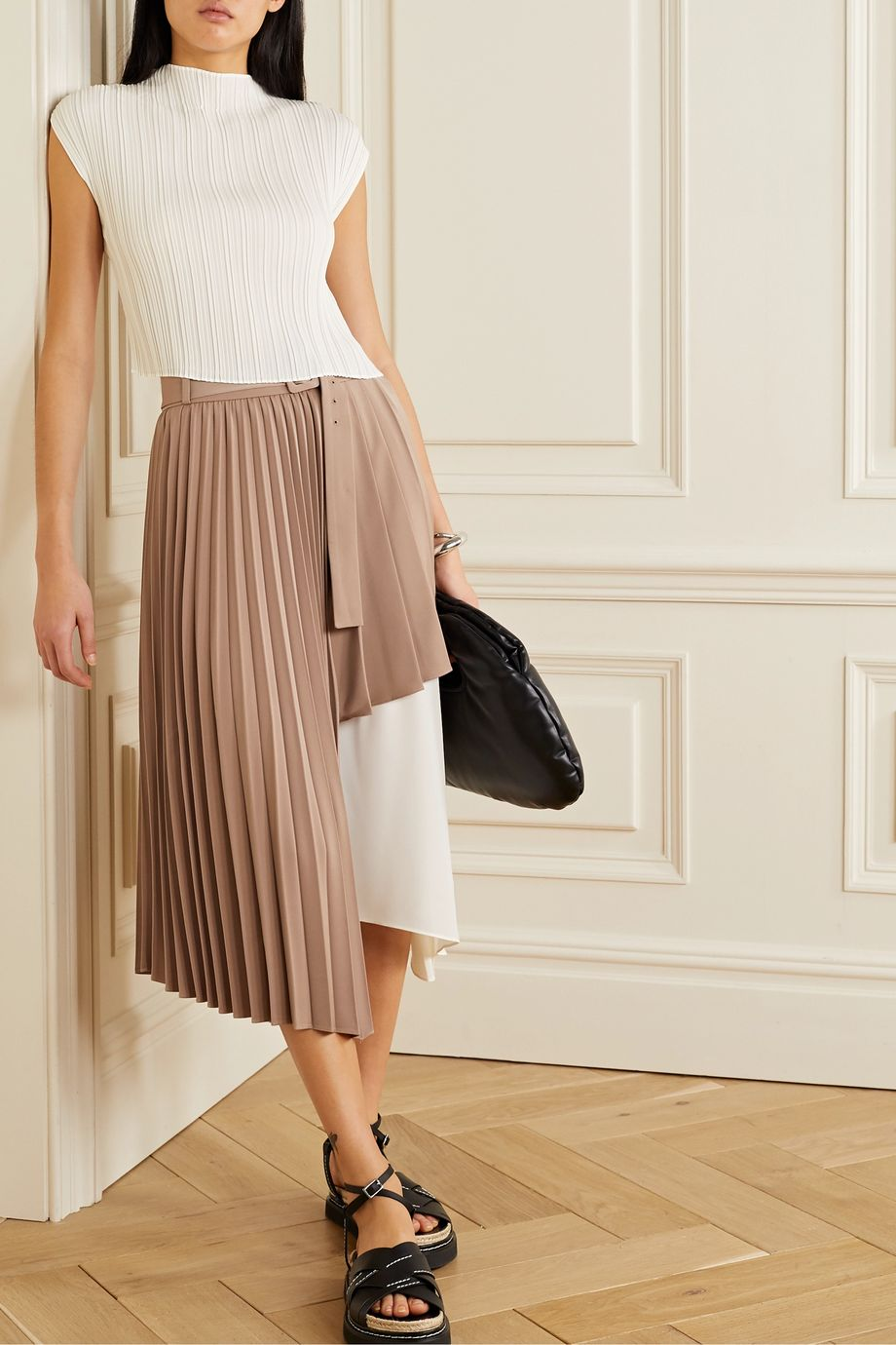 3.1 Phillip Lim Pleated voile tank