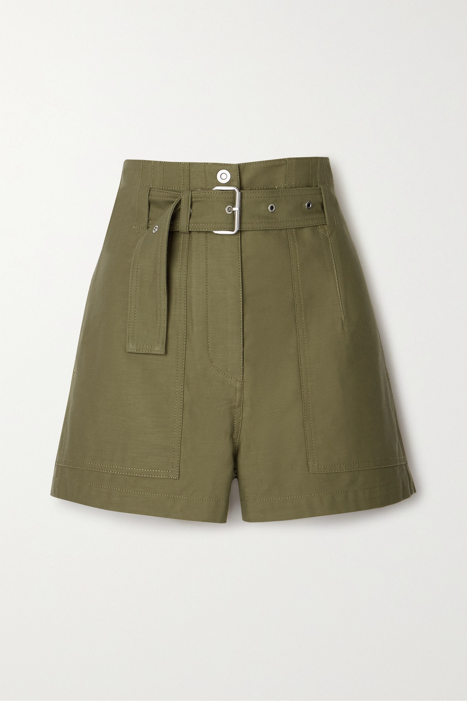 3.1 Phillip Lim Belted cotton-twill shorts