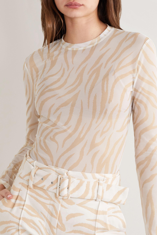 LAPOINTE Zebra-print stretch-mesh top