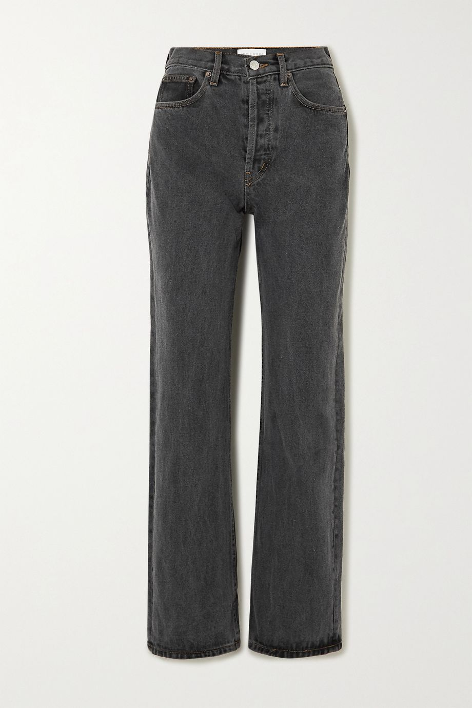 Still Here Childhood embroidered high-rise straight-leg jeans