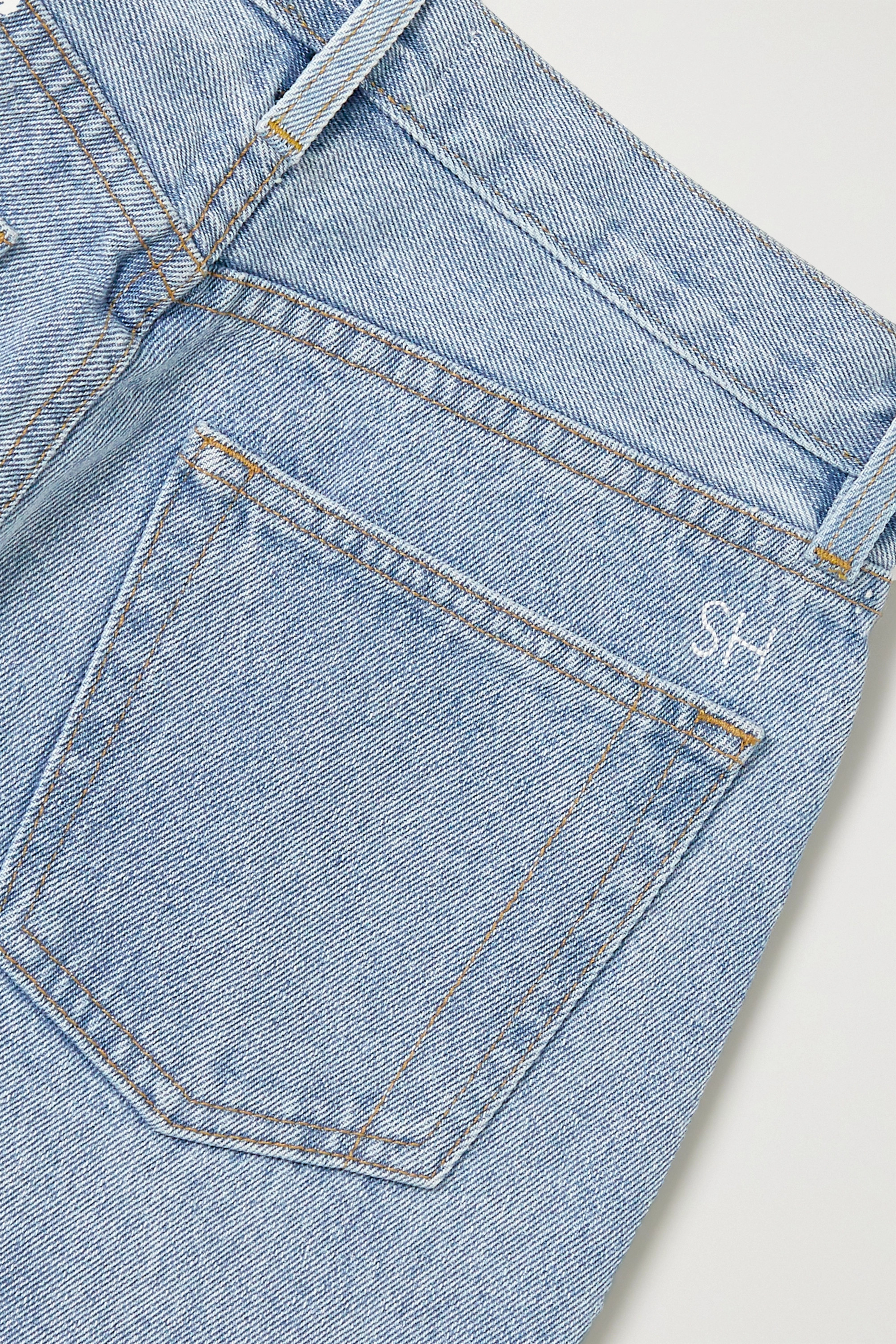 Still Here Tate Crop high-rise straight-leg jeans