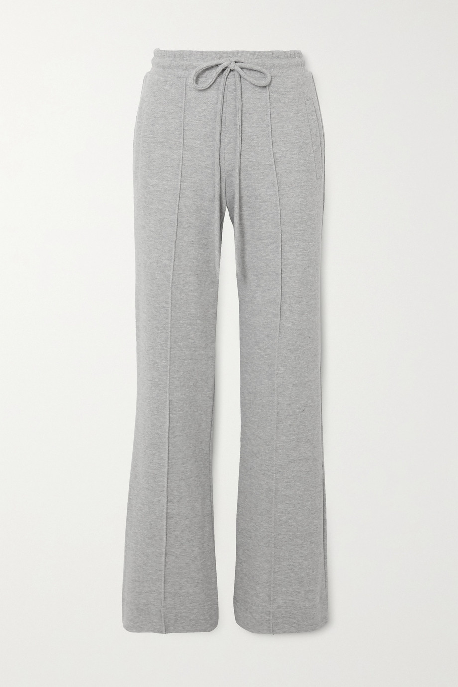 TWENTY Montréal Sunnyside mélange cotton-blend terry track pants