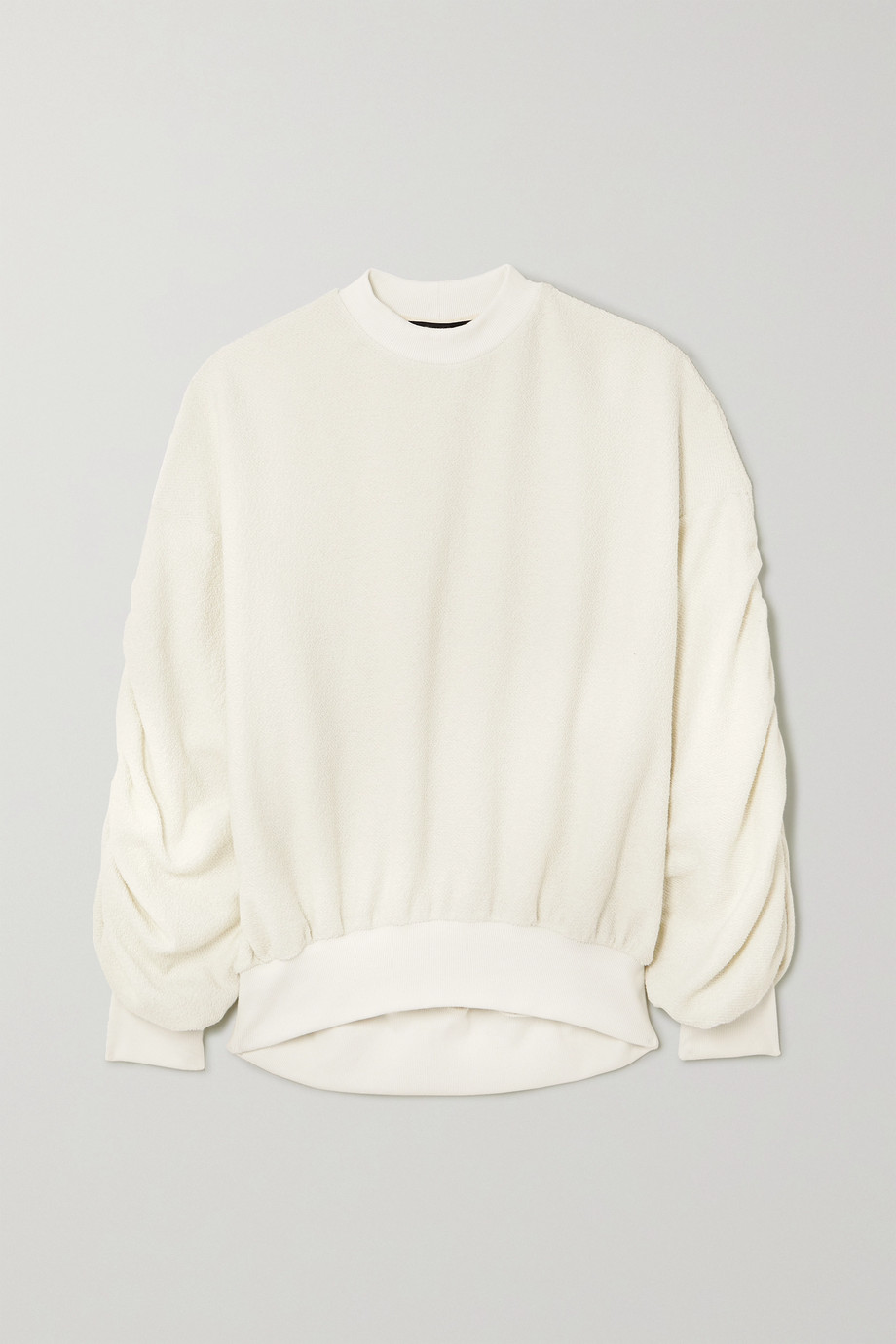 TWENTY Montréal Sunnyside Oversized-Sweatshirt aus Frottee aus einer Baumwollmischung mit Raffungen