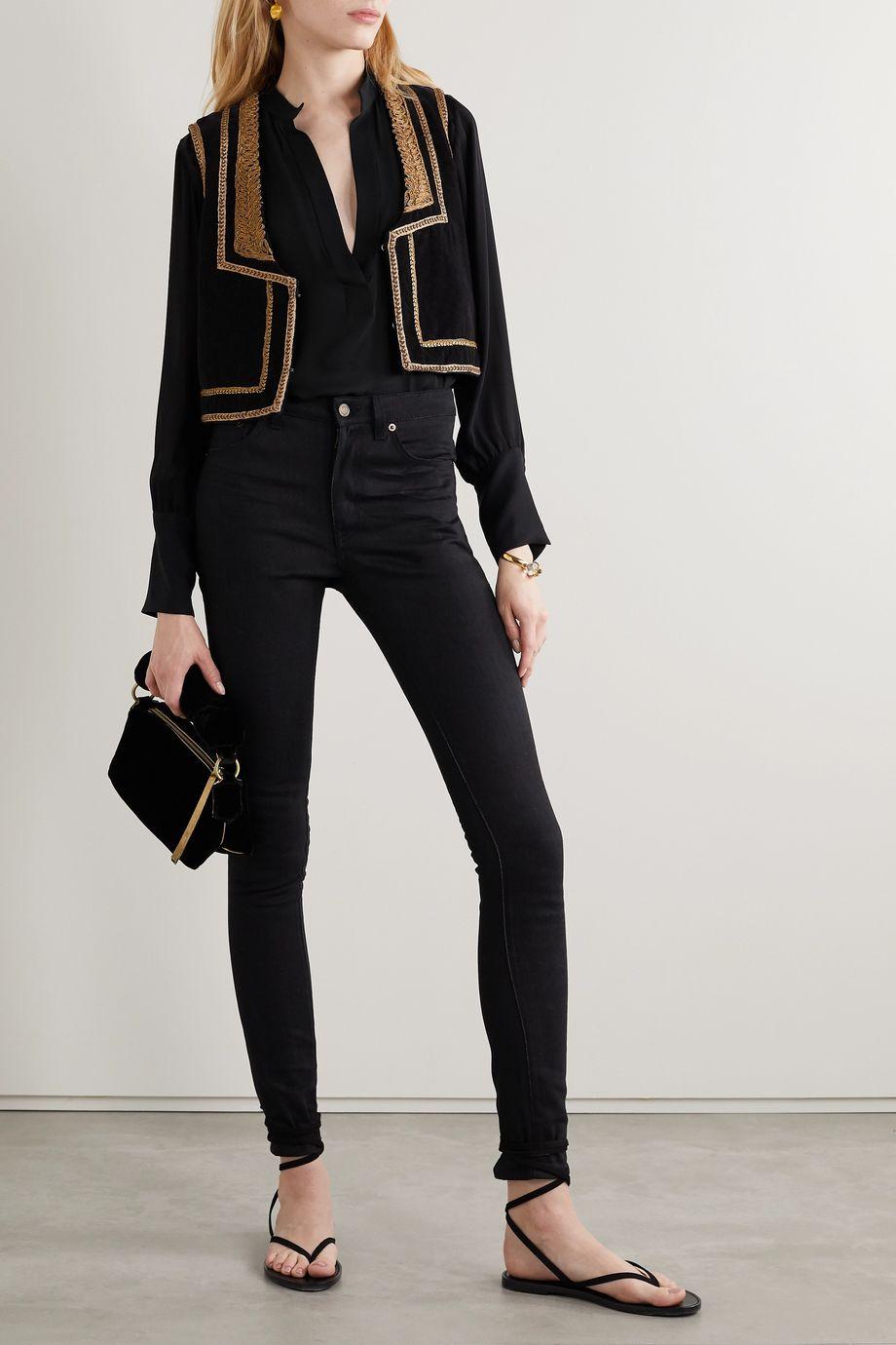 Nili Lotan Colette silk-chiffon blouse