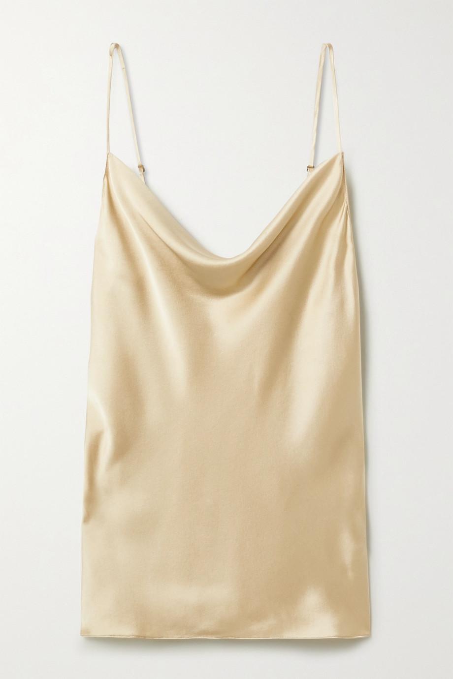 Nili Lotan Gemma draped silk-satin camisole