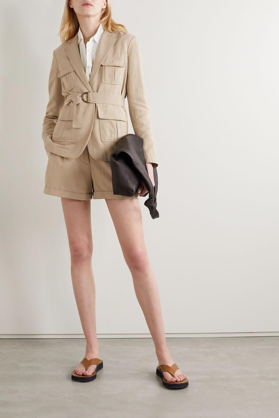 Nili Lotan Hunt belted twill jacket