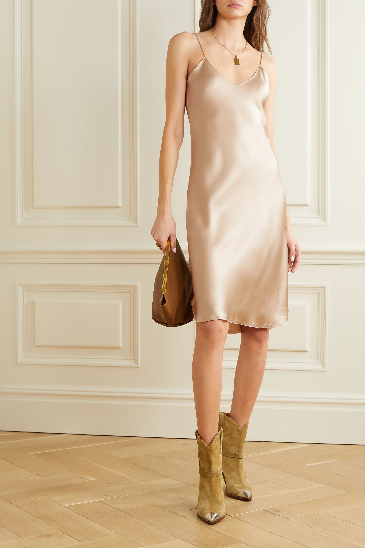 Nili Lotan Silk-charmeuse dress