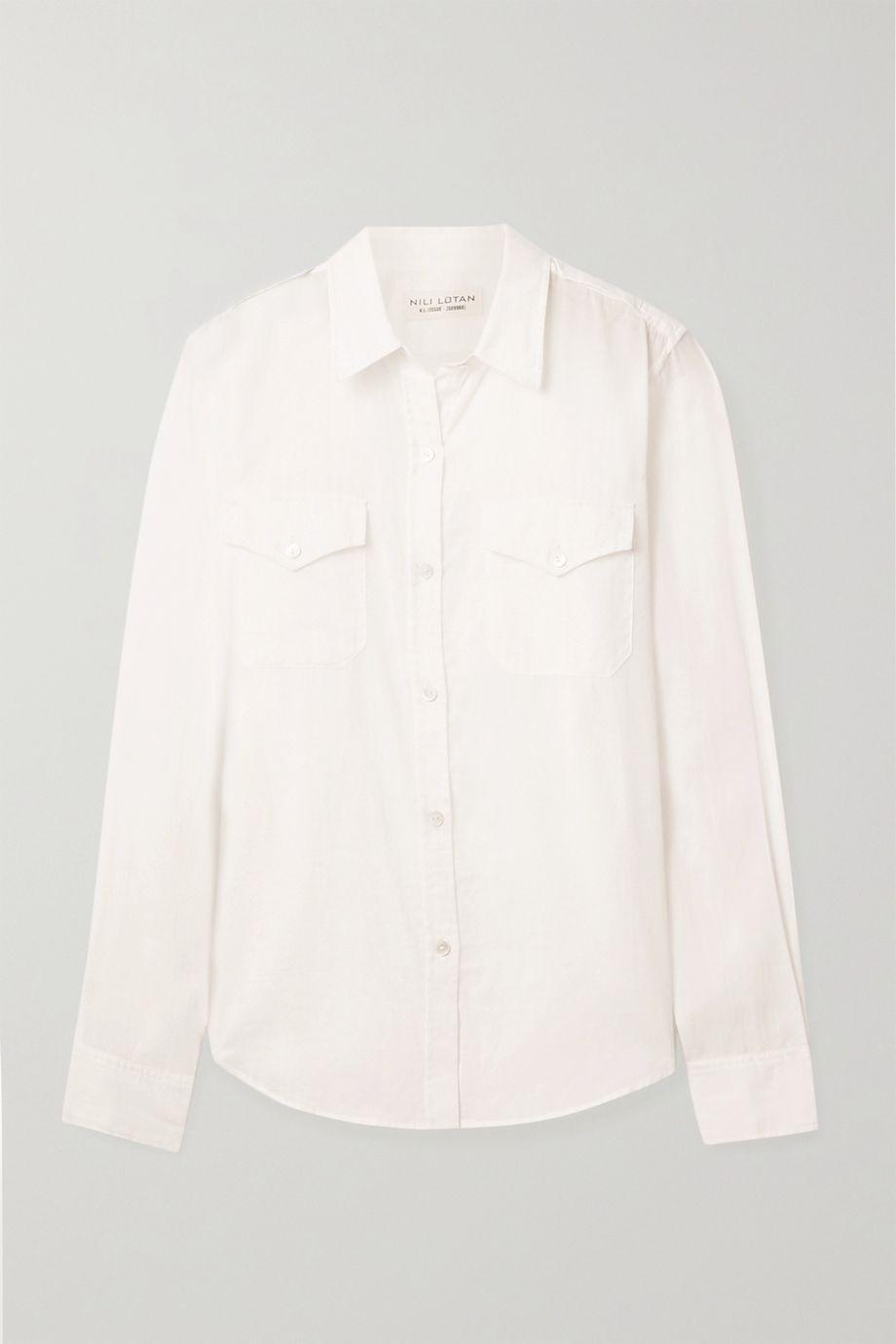 Nili Lotan Athena cotton-voile shirt