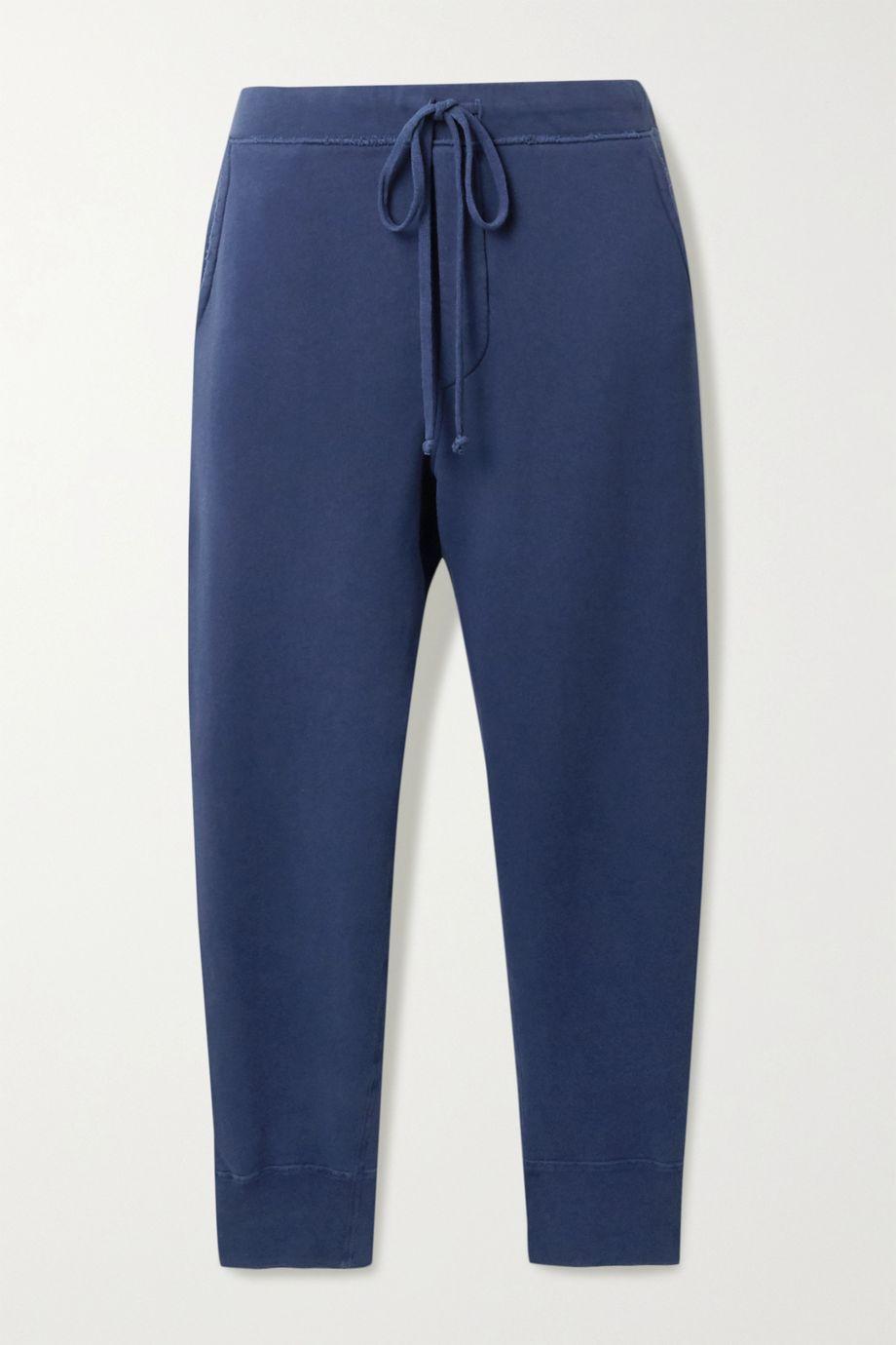 Nili Lotan Nolan cropped distressed cotton-jersey track pants