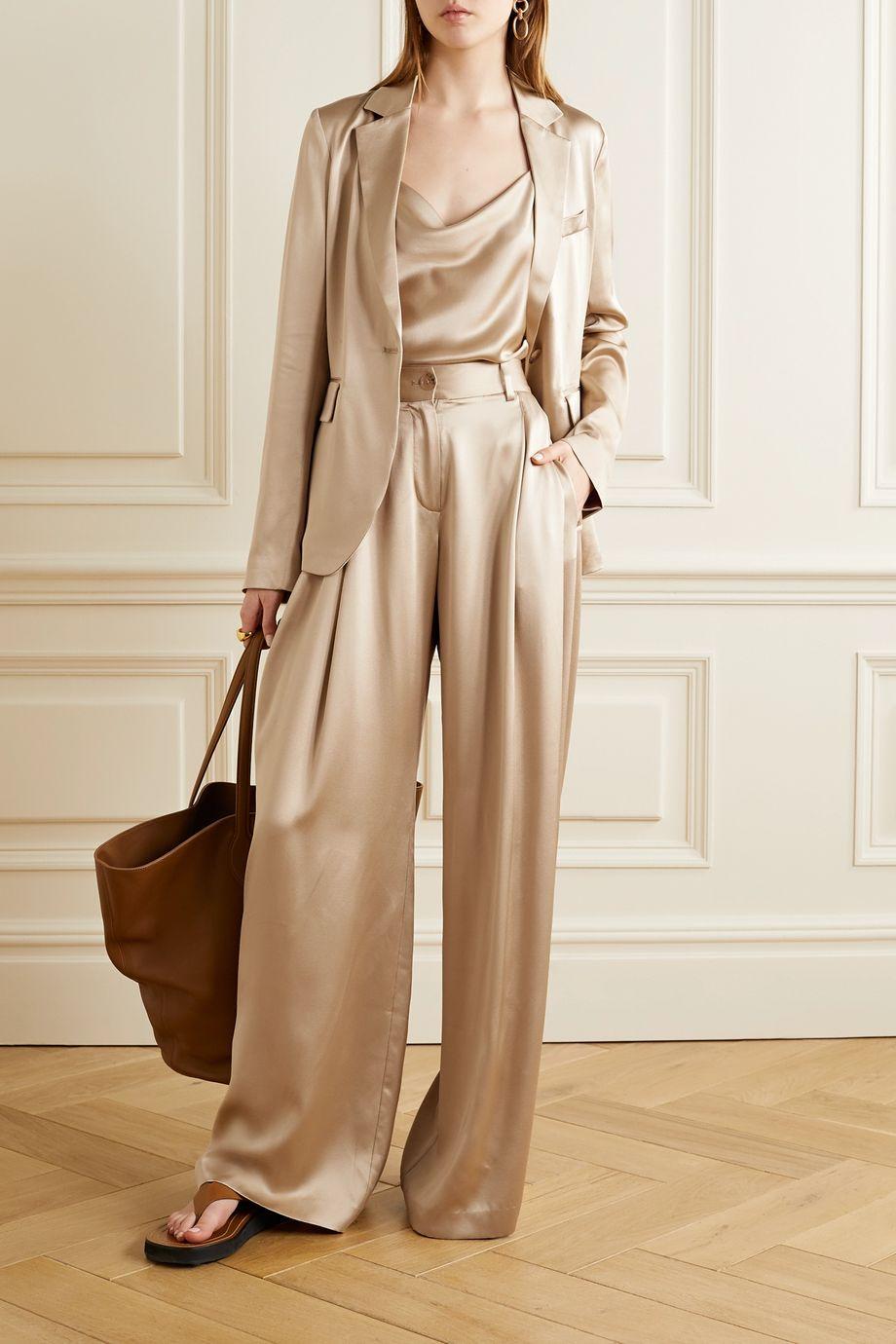 Nili Lotan Brixton silk-satin wide-leg pants