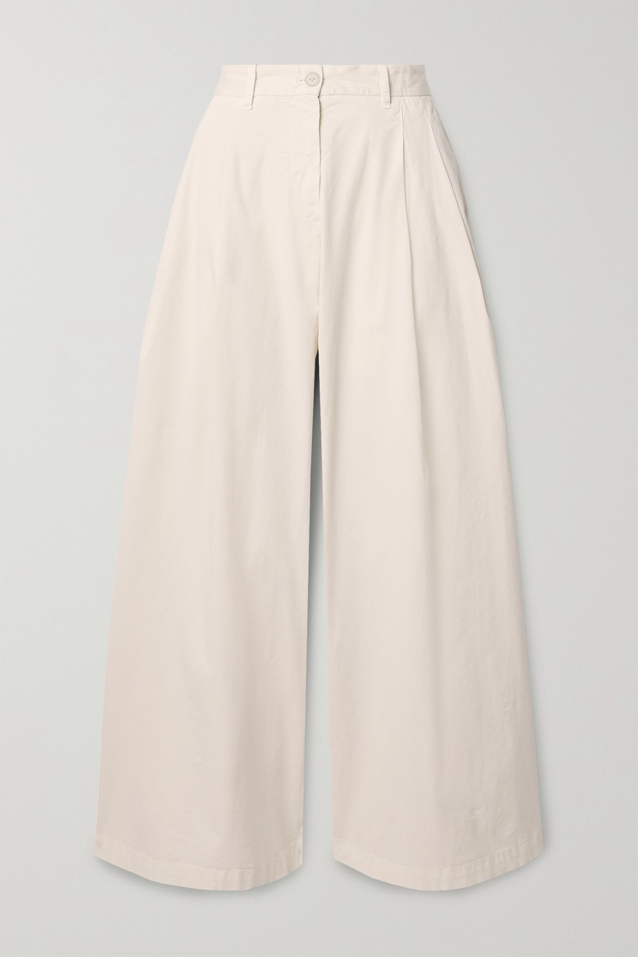 Nili Lotan Marbella stretch-cotton twill wide-leg pants